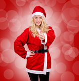 Woman in Santa Claus dress Royalty Free Stock Image