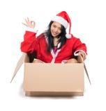 Woman in Santa Claus dress Stock Photos