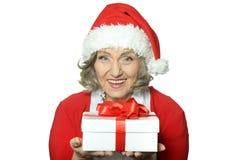 Woman in Santa Claus Royalty Free Stock Photo