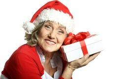 Woman in Santa Claus Stock Photos