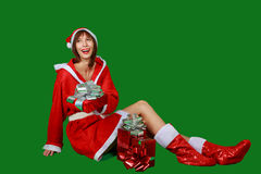 Woman santa claus Royalty Free Stock Image