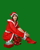 Woman santa claus Royalty Free Stock Images