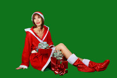 Woman santa claus Stock Image