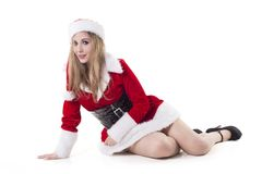 Woman In Santa Costume Royalty Free Stock Photos