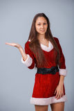 Woman in santa costume Royalty Free Stock Photography