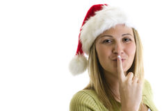Woman in santa hat Royalty Free Stock Photos