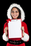 Woman in santa wear Royalty Free Stock Photography