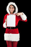 Woman in santa wear Royalty Free Stock Images