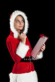 Woman in santa wear Stock Photo
