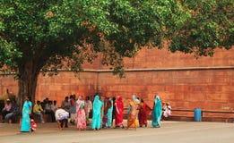 Woman in sari Stock Photos