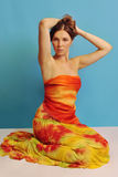 Woman in sarong 1 Stock Image