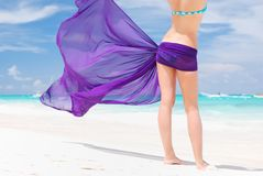 Woman with sarong Stock Photo