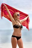 Woman with a sarong Royalty Free Stock Image