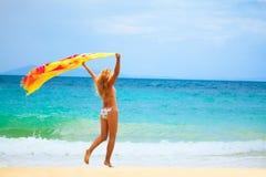 Woman with sarong Stock Photo