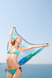 Woman with sarong Stock Image