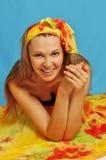 Woman in sarong 5 Royalty Free Stock Image