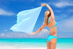 Woman with sarong Royalty Free Stock Image