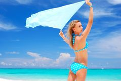Woman with sarong Royalty Free Stock Images