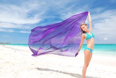 Woman with sarong Royalty Free Stock Photo
