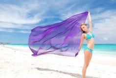 Woman with sarong Royalty Free Stock Photo