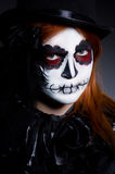 Woman satana in halloween Stock Photos