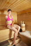 Woman at sauna Stock Photo