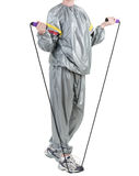 Woman in sauna suit Royalty Free Stock Images
