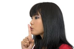 Woman Say Silent Stock Image