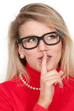 Woman Saying Be Quiet Royalty Free Stock Photo