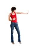 Woman saying stop Stock Image