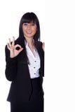 Woman says ok Royalty Free Stock Photos