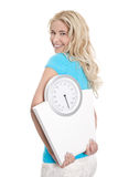 Woman with scales and beautiful body Royalty Free Stock Photography