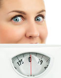 Woman with scales Stock Image