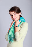 Woman with a scarf. Stock Image