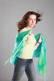 Woman with  scarf. Stock Photo