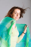 Woman with  scarf. Royalty Free Stock Photos