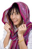 Woman with scarf Royalty Free Stock Photos