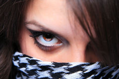 Woman with a scarf Royalty Free Stock Images