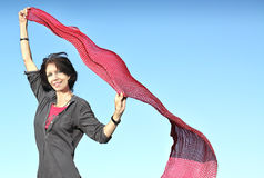 Woman and scarf Stock Image
