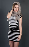 Woman with scarf Royalty Free Stock Image