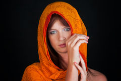 Woman with scarf Stock Photo