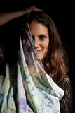 Woman with scarf Royalty Free Stock Photography