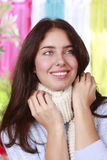 Woman with scarf Stock Photography