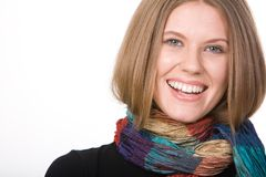 Woman with scarf Royalty Free Stock Photo