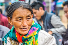 Woman with scarf in Bihar Royalty Free Stock Images