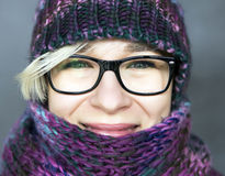 Woman in scarf Royalty Free Stock Photos