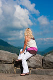 Woman At Scenic Overlook Royalty Free Stock Image