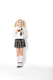 Woman in a School Uniform Royalty Free Stock Images