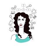 Woman science illustration Stock Image
