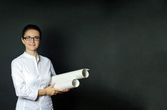 Woman of science Stock Photography